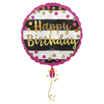 "Folienballon - Pink & Gold ""Happy Birthday"" 